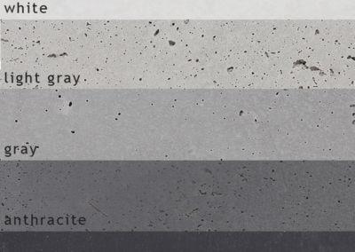 the range of concrete colors