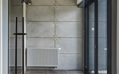 Stairs & wall cement slab