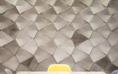"""A """"good cuisine"""" studio, wall concrete decoration"""