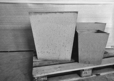 Beton architektoniczny - doniczki z betonu