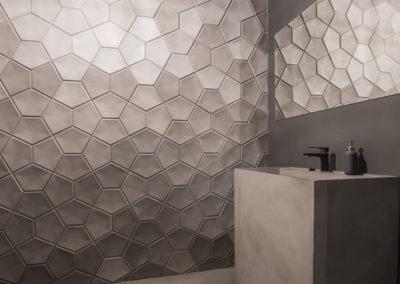 bathroom concrete floor